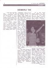 Prvo pojavljivanje u lokalnim novinama 31-08-1996